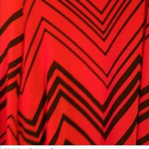 Pretty Little Thing Red Chevron Print Wide Palazzo